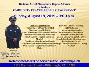 Community Prayer and Healing Service - Rodman Street